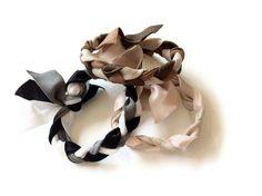 Braided Hair Tie Bracelet  Pick 1 Multi Color by SweetTiesHairTies, $6.00