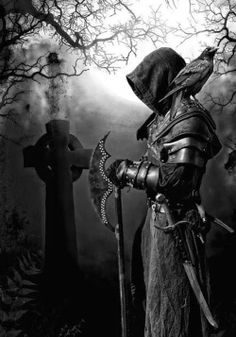 """Dark Angel photo by Rogue Knight."" Ooooh, Rexford would dress like that minus the Armour Dark Fantasy Art, Fantasy Artwork, Dark Art, Character Inspiration, Character Art, Evvi Art, Knight Tattoo, Reaper Tattoo, Japon Illustration"