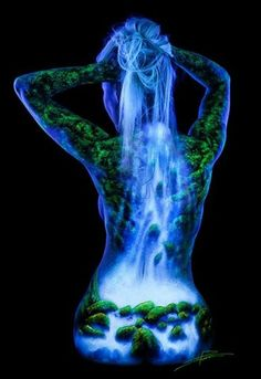 Black Light Bodyscapes - Pintura corporal by John Poppleton Photographie Art Corps, Female Body Paintings, Face Paintings, Body Art Photography, Light Photography, Fantasy Photography, Photography Jobs, Travel Photography, Fashion Photography