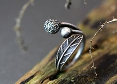 Hey, I found this really awesome Etsy listing at https://www.etsy.com/listing/182644648/retro-burnished-leaf-balls-ring-nature