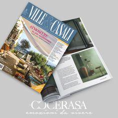 VILLE E CASALI - Maggio 2018 #press #magazine #advertising #design #cerasa #suede #bathroom #home #interiordesign