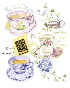 Tea Time in a Parisian Tea Room by Lucile Prache
