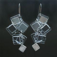 """""""iced Window"""" LEGO earrings by Emiko"""