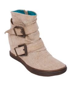 Take a look at this Natural Tugo Wedge Boot on zulily today!