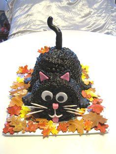 Black Cat Cake- Liddy's 2nd Birthday! :)