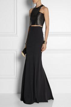 Balmain|Crepe maxi skirt|NET-A-PORTER.COM