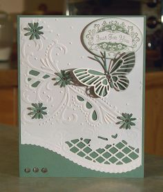 All Occasion Large Butterfly card, using Stampin' Up Tagtastic stamp set. Except for the hand stamped phrase, the rest of the card was designed using a beautiful kit that I purchased.