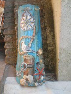Tegola marinara 3d - Antique decorative tile with marinara relief