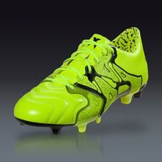 adidas X 15.1 FG AG Leather - Solar Yellow Frozen Yellow Black - a3b1ac039e6de