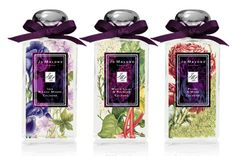Lovely bottles. New Fragrances: Jo Malone London Blooms Collection. Limited edition... gone :(
