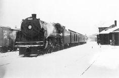 2929 in a cold winter scene Fredericton January 1954 Walter Pfefferle Collection New Brunswick, January 1, Winter Scenes, Trains, Cold, Collection