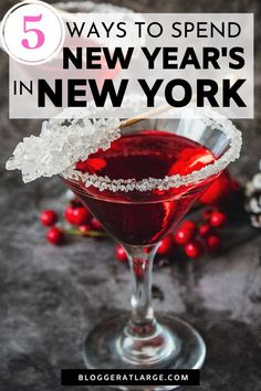 Going to be in the Big Apple for New Year's Eve? This post covers 5 of the best things to do there including where to ice skate, best views of the ball drop and fireworks and some fun ideas to see the new year in!