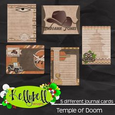 Temple of Doom Journal Cards