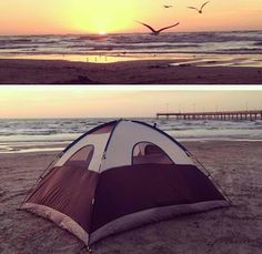 Go camping with my boyfriend. Whether its on the beach, or out in the wilderness :3
