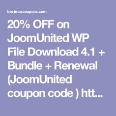 20% OFF on JoomUnited WP File Download 4.1 + Bundle + Renewal    (JoomUnited coupon code )      http://bestmaxcoupons.com/store/joomunited-coupon-codes/