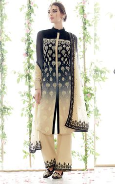 $47.65Gray Georgette Pakistani Style Suit 56720