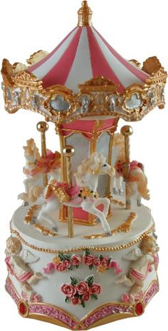 Soprano, Miniature Hand Crafted Musical Carousels from Magical Music Boxes UK Musical Carousels, Musical Carousels of Distinction Carousel Musical, Carousel Cake, Carousel Horses, Royal Albert, Disney Figurines, Pretty Box, Vintage Pink, Vintage Christmas, Snow Globes