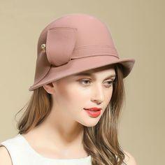 c6afcbb36aac9c US $35.0 |Beckyruiwu Female Party Formal Headwear Lady Banquet Grace  Irregular Fedora Hat Women Pure Wool Felt Cloche Hats -in Women's Fedoras  from Apparel ...