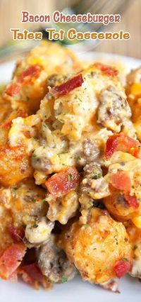Bacon Cheeseburger Tater Tot Casserole