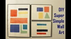 DIY Wall Art  Simple and Cheap Recycled Paint Project