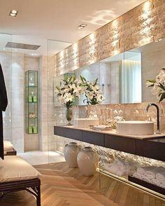 59 Interior Bathroom To Update Your Living Room bathroom banheiro hus lavabo Dream Bathrooms, Beautiful Bathrooms, Modern Bathroom Design, Bathroom Interior, Bathroom Designs, Bathroom Inspiration, Bathroom Ideas, Bathroom Vanities, Small Bathroom