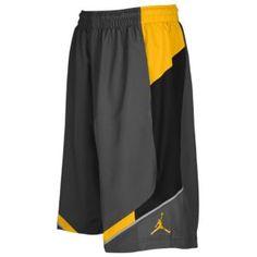 Jordan On Point Short - Men's - Basketball - Clothing - Dark Grey/University Gold