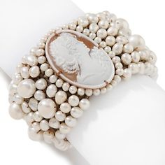 Amedeo Cameo Collection for HSN Cameo Jewelry, Old Jewelry, Pearl Jewelry, Jewlery, Vintage Jewelry, Pearl Love, Pearl And Lace, All That Glitters, Pearl Bracelet