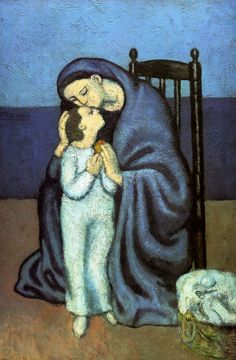 Picasso - Motherhood (Maternità) (1901)