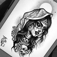 trendy ideas for tattoo animal skull artworks – skull tattoo sleeve Animal Skull Tattoos, Skull Girl Tattoo, Girl Face Tattoo, Animal Skulls, Gypsy Girl Tattoos, Neotraditionelles Tattoo, Dark Art Tattoo, Body Art Tattoos, Sleeve Tattoos