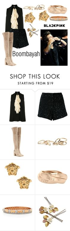 """""""Boombayah."""" by nerdyhesc ❤ liked on Polyvore featuring Gucci, Manish Arora, Gianvito Rossi, GUESS, Versace, StyleRocks, Yeprem, OneDirection, harrystyles and Elegant"""