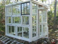 Greenhouse made from old window frames