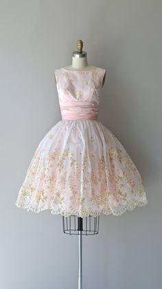 Sweet Nothings dress vintage 1950s dress pink by DearGolden
