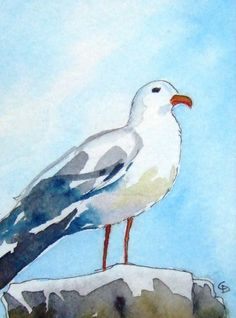 I could paint this seagull in class...