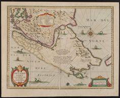 [Straits of Magellan]. Hendrik Hondius. Freti Magellanici ac novi Freti vulgo...   Extracted from Theatre du Monde. [Amsterdam, 1639].