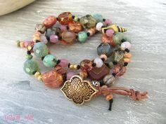 Wickelarmbänder - Two in One Armband oder Kette ✭ BEACH ✭ so sweet - ein Designerstück von charm_one bei DaWanda