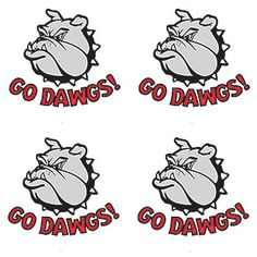 Go Dawgs! Red Temporary Tattoos.