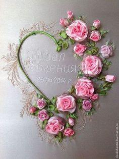 Подарок - Вышивка лентами,шелковые ленты,цветочная вышивка,ручная вышивка