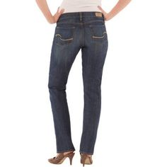 Signature by Levi Strauss & Co.  Modern Straight Jeans, Available in Regular, Short, and Long Lengths, Size: 6 Long, Blue