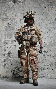 US Spec ops operator Military Gear, Military Photos, Military Soldier, Navy Military, Seal Team Six, Gi Joe, Military Action Figures, Us Navy Seals, Military Special Forces