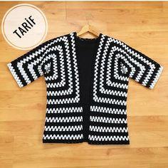 Best 12 Ravelry: Project Gallery for Mitered Cardigan pattern by Elizabeth Zimmermann – SkillOfKing. Hippie Crochet, Crochet Art, Crochet Granny, Crochet Jacket, Crochet Cardigan, Crochet Designs, Crochet Patterns, Crochet Capas, Crochet Abbreviations