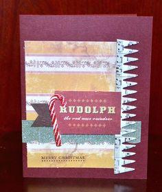 Rudolph card by Darla Weber #CosmoCricket
