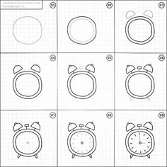 Set of clock doodles isolated on white background. Premium vectorSet of clock doodles isolated on white background. Premium vectorTime and clock symbols by Clock Drawings, Easy Doodles Drawings, Simple Doodles, How To Draw Doodles Easy, Bullet Journal Ideas Pages, Bullet Journal Inspiration, Planner Inspiration, Doodle Art Journals, Sketch Notes