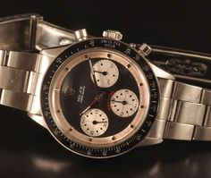 Rolex Stainless Steel Paul Newman Daytona Chronograph Wristwatch Circa 1965