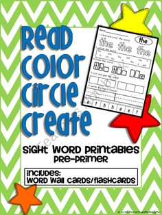Read Color Circle Create Sight Word Printables-ALL Pre-Primer Words product from More-Than-Math-by-Mo on TeachersNotebook.com