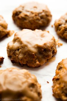 Deliciously moist, flaky, and crumbly banana nut scones with maple glaze. Not quite banana muffins, but everything you crave for breakfast!