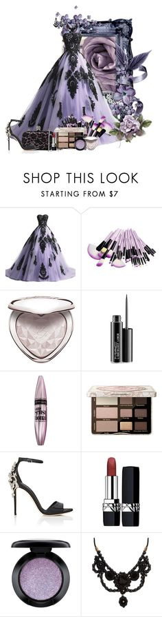 """""""Take me away to a secret place"""" by arisa-nightingale ❤ liked on Polyvore featuring MAC Cosmetics, Maybelline, Alexander McQueen, Too Faced Cosmetics, Dolce&Gabbana, Christian Dior, Gucci and 1928"""