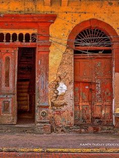 PANAMA--this looks exactly like a photo I took of a door in Luxor, Egypt except mine has two children walking past