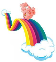 Care bears cheer rainbow cloud wall safe sticker border cut out Rainbow Cloud, Rainbow Light, Love Rainbow, Care Bears, Care Bear Party, Bff Drawings, Tatty Teddy, Little Pony, Illustration