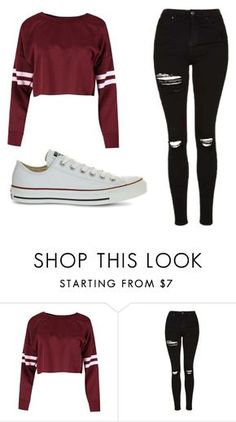 """Untitled #373"" by cuteskyiscute on Polyvore featuring Topshop and Converse"