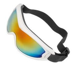 uxcell Foldable Plastic Lens Chrome Plated Full Rim Ski Goggles for Unisex